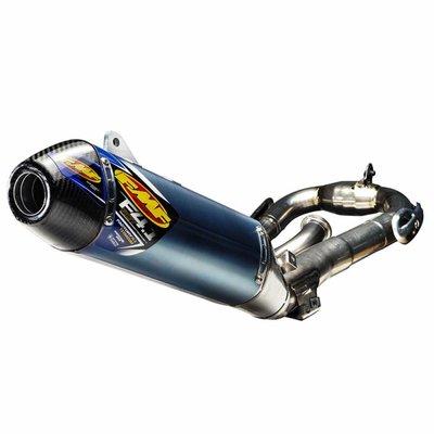 FMF Yamaha YZ450F (2011-2017) FACTORY 4.1 RCT / blau eloxiert Titan / Titan Megabomb Header / Kohlefaser-Endkappe