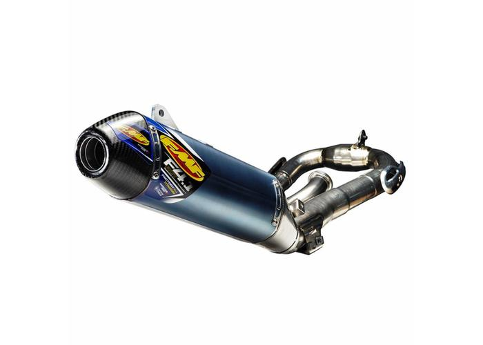 FMF Yamaha YZ450F (2011-2017) FACTORY 4.1 RCT/ blue anodized titanium/titanium Megabomb header/carbon fiber end cap