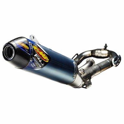 FMF Yamaha YZ450F (2018) FACTORY 4.1 RCT / eloxierter Endschalldämpfer / Kohlefaser-Endkappe / Titan MegaBomb-Krümmer
