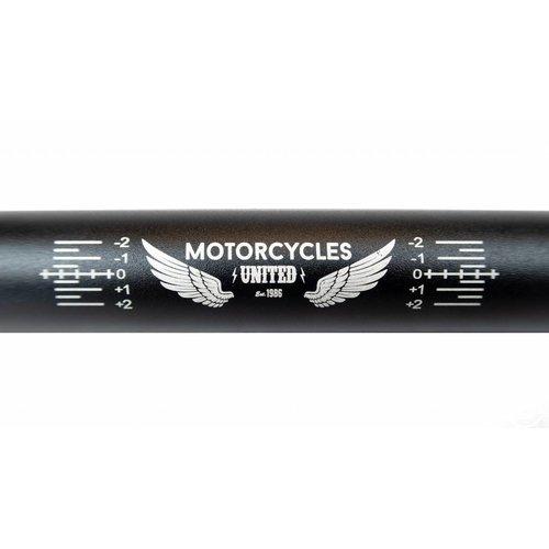 "MCU Aluminium 7050 Fatbar ""Motorcycles United"" Zwart"