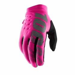 Brisker Dames neon-roze/zwart