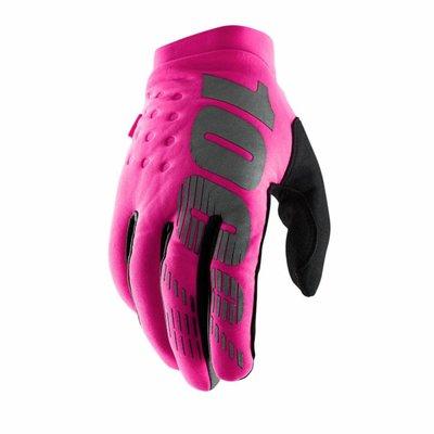 100% Brisker Fraulein neon-roze/zwart