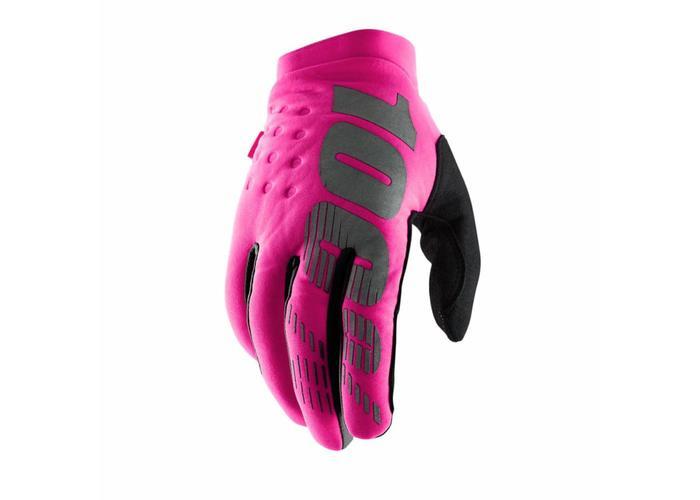 100% Brisker Dames neon-roze/zwart