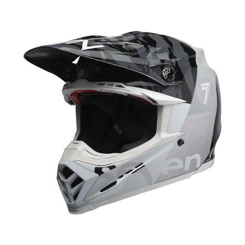 Bell Moto-9 Flexhelm Seven Zone Gloss Black / White / Chrome