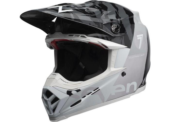 Bell Moto-9 Flexhelm Seven Zone Gloss Black / White / Chrome