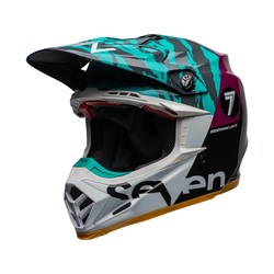 Moto-9 Flex Seven Zone Gloss Black / Aqua