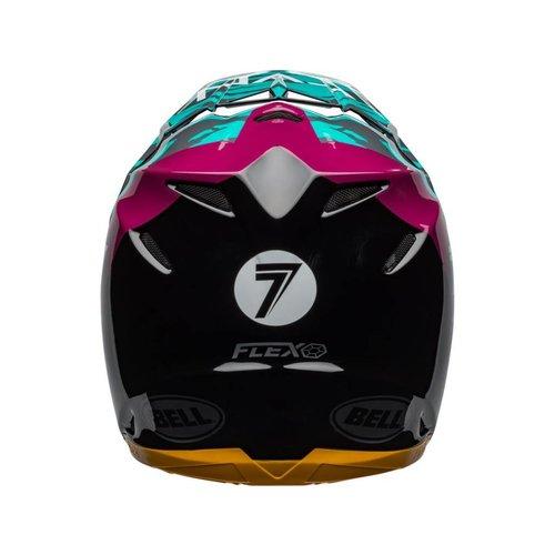Bell Moto-9 Flex Seven Zone Gloss Zwart / Aqua