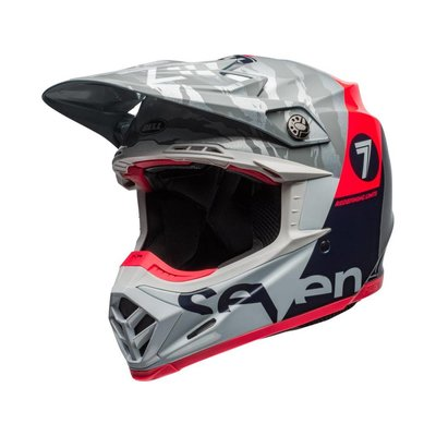 Bell Moto-9 Flex Seven Zone Gloss Navy / Coral