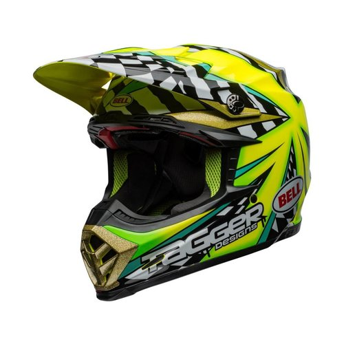 Bell Moto-9 Flex Tagger Mayhem Gloss Groen / Zwart / Wit