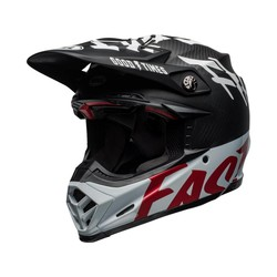 Moto-9 Flex Fasthouse WRWF Gloss Black / White / Red