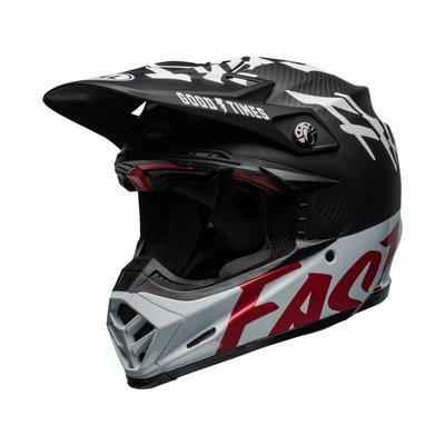 Bell Moto-9 Flex Fasthouse WRWF Glanz Schwarz / Weiß / Rot