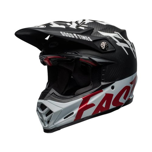 Bell Moto-9 Flex Fasthouse WRWF Gloss Black / White / Red
