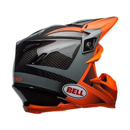 Bell Moto-9 Flex Gloss/Matte Oranje/Charcoal Hound