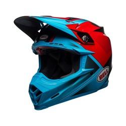 Moto-9 Flex Gloss / Matte Cyan / Red Hound