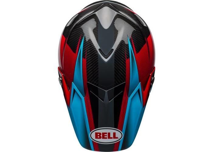 Bell Moto-9 Flex Gloss/Matte Cyan/Rood Hound