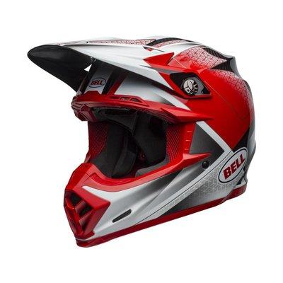 Bell Moto-9 Flex Hound Matt / Glanz Rot / Weiß / Schwarz