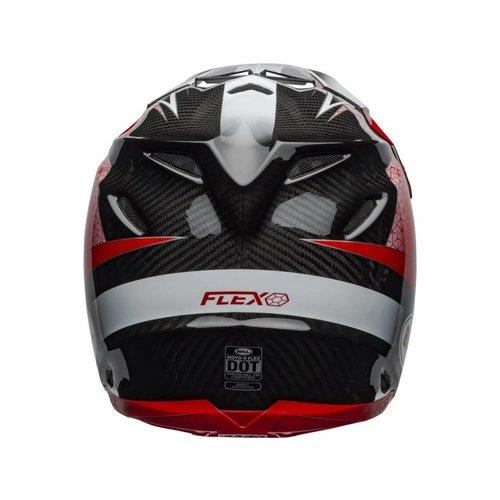Bell Moto-9 Flex Hound Matte/Gloss Rood/Wit/Zwart