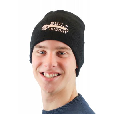 "MCU Beanie ""Build Not Bought"" Zwart"