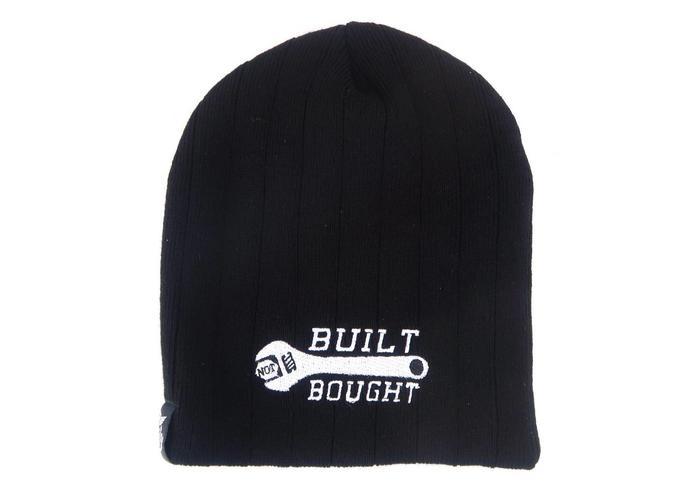 """MCU Beanie """"Build Not Bought"""" Zwart"""