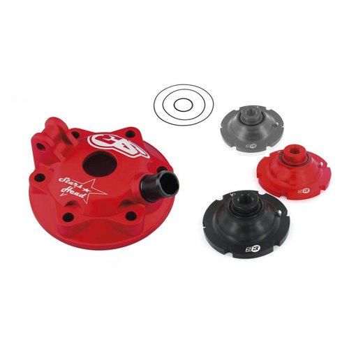 S3 Parts Cylinder Head & Inserts Kit Aluminium Red Beta RR250 04-18