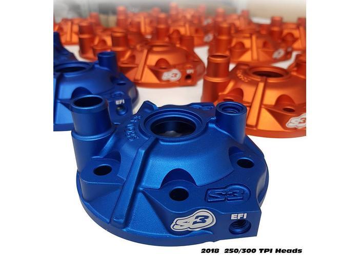S3 Parts Cilinderkop & inserts Kit Aluminium Rood Beta RR300 13-18