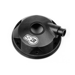 Cilinderkop & inserts Kit Aluminium Zwart Gas Gas