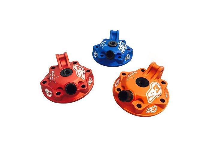 S3 Parts Cilinderkop & inserts Kit Aluminium Blauw Husaberg/Husqvarna 250 09-16