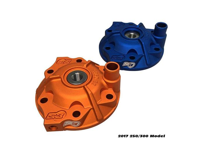 S3 Parts Cilinderkop & inserts Kit Aluminium Blauw Sherco 250 SE (R) 14-16