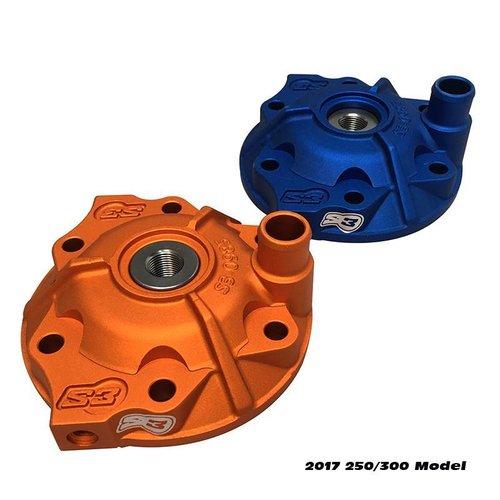 S3 Parts Head Cylinder Head & Inserts Kit Aluminium Blue Sherco SE (R) 300 14-15