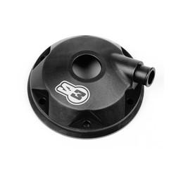 Cilinderkop & inserts Kit Aluminium Zwart Sherco/Scorpa