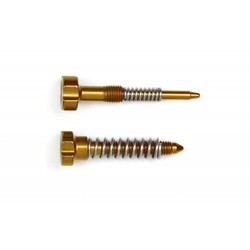 Carburetor Adjuster Screws Idle + Springs Gold