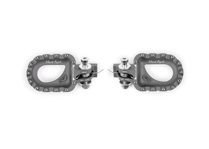 S3 Parts S3 Hard Rock Voetsteunen Aluminium Zwart