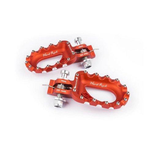 S3 Parts S3 Hard Rock Footrests Aluminium Orange