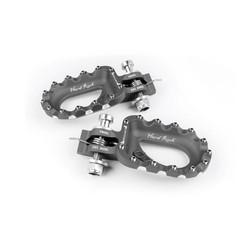 Hard Rock Footrests Aluminium Titane