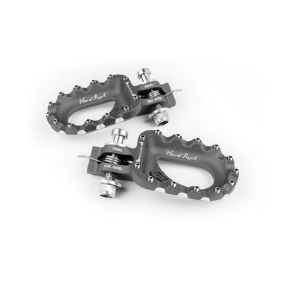 S3 Parts Hard Rock Footrests Aluminium Titane