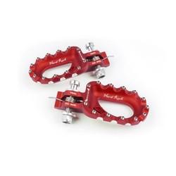 Hard Rock Fußstützen Aluminium Rot