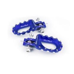 Hard Rock Footrests Aluminium Blue