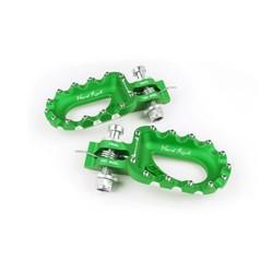 Hard Rock Footrests Aluminium Green