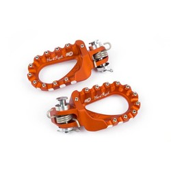 Hard Rock Enduro Footrests Aluminium Orange