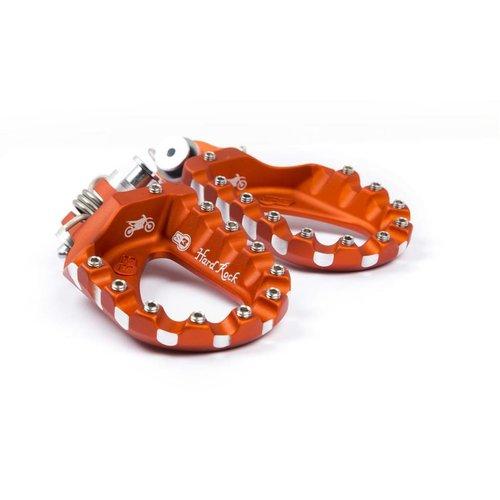 S3 Parts S3 Hard Rock enduro voetsteunen aluminium oranje