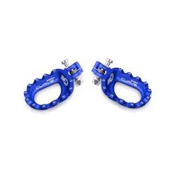 Curve voetsteunen aluminium blauw