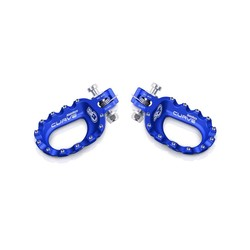 Kurvenfußstützen Aluminium Blau