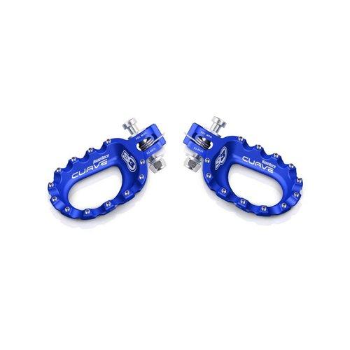 S3 Parts S3 Curve voetsteunen aluminium blauw