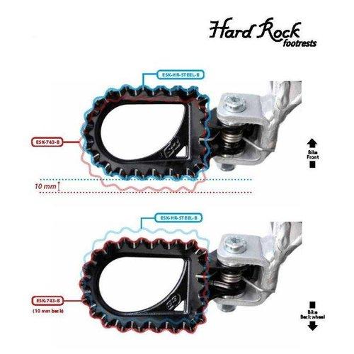 S3 Parts S3 Hard Rock voetsteunen + 10 mm achterste positie staal zwart