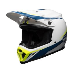 X-9 MIPS Helmet Gloss White/Blue/ Yellow Torch