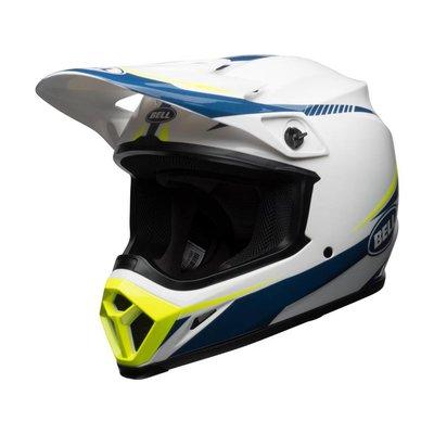 Bell X-9 MIPS Helmet Gloss White/Blue/ Yellow Torch