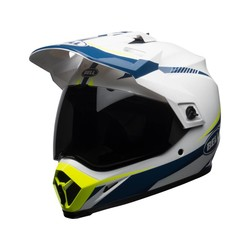 MX-9 Adventure MIPS Helmet Gloss White/Blue/Yellow Torch