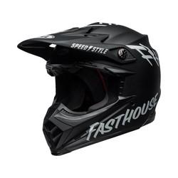 Moto-9 MIPS Helm Fasthouse Glanzend Wit / Zwart