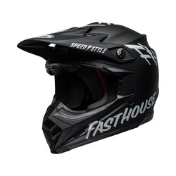 Moto-9 MIPS Helm Fasthouse Gloss Weiß / Schwarz