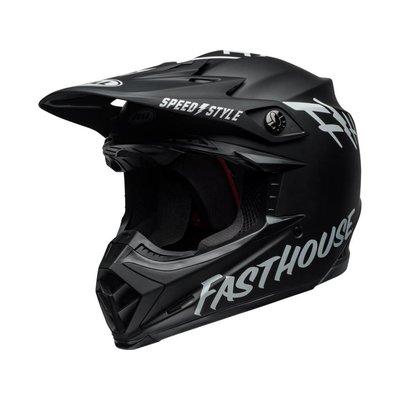 Bell Moto-9 MIPS Helm Fasthouse Gloss Weiß / Schwarz